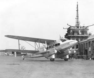 Croydon airport biplane