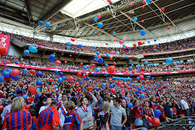 Palace fans at Wembley