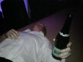 Steven George, husband of Croydon councillor Clare Hilley, in a picture which he first posted on the internet