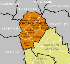 Croydon North map by ward