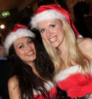 Councillor Clare Hilley (right), ready for Christmas