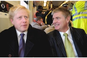 Gis your job: Steve O'Connell, right, with London Mayor Boris Johnson