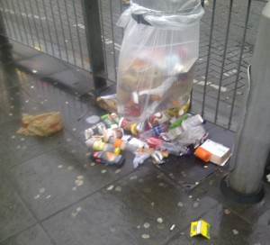 Rubbish is spread borough-wide: a wonderful welcome to the delights of the borough for arriving commuters at East Croydon Station