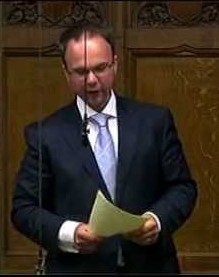 Gavin Barwell speaking in parliament. His election line on immigration during by-election deliberately played to racists