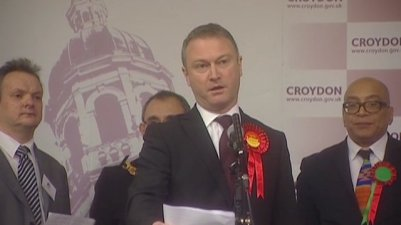 Croydon North's new MP, Steve Reed, makes his acceptance speech