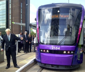 Boris Johnson's very visible promise to deliver the Tramlink extension to Crystal Palace. Three years later, there is no cash for the scheme and no feasibility study