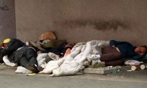 London in the 21st century, and homeless people line our streets