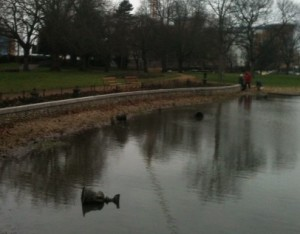 Another view of the pointless vandalism in Wandle Park. Clearly, if something's not nailed down...