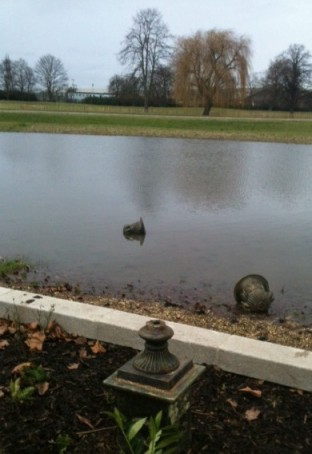 "Mindless vandalism to some of the new ""antique"" fittings in Wandle Park"