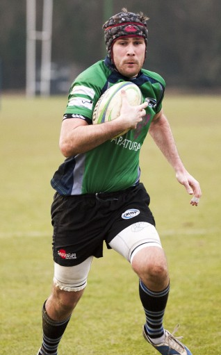 Top try: Mid-Wives' Joe Baul was named man of the match on Saturday. Photograph by Peter Filewood