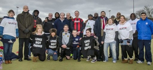 Some of the players and volunteer organisers from last Friday's charity football tournament at BRIT School