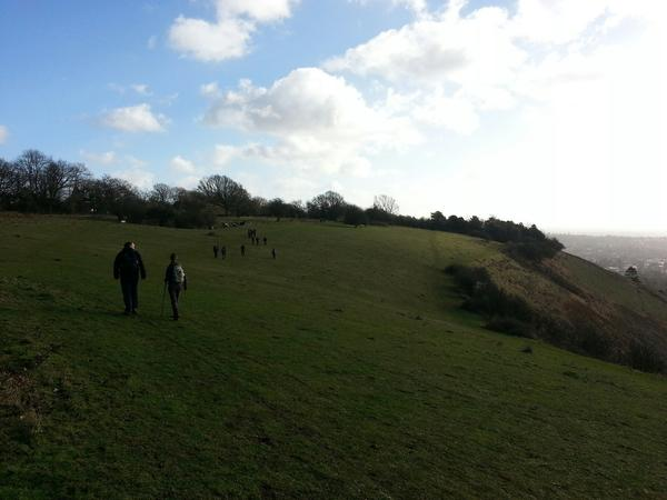 Ramblers at Coulsdon South