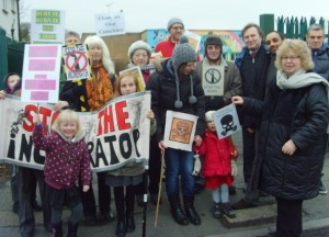 Local residents and campaigners join Jean Lambert MEP at Beddington this week