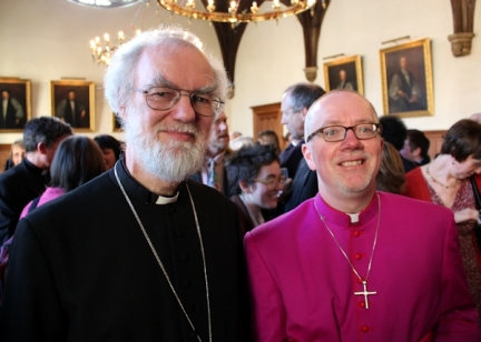 Jonathan Clark, at the celebration of his appointment as the Bishop of Croydon with the then Archbishop of Canterbury, Rowan Williams