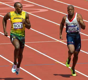 Olympian performance: Croydon's James Desaolu in action at last summer's London Olympics with some other bloke