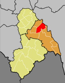 Ashburton ward, in red, part of Croydon Central