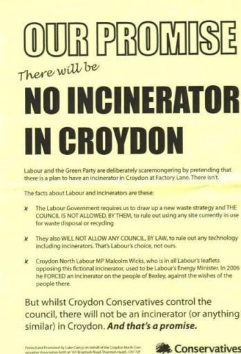Incinerator leaflet