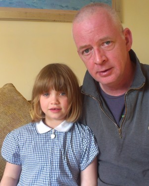 Paying to read: Anthony Kennedy with his daughter Lauren. A two-year campaign has seen Croydon Council climbdown over charges for reading lessons