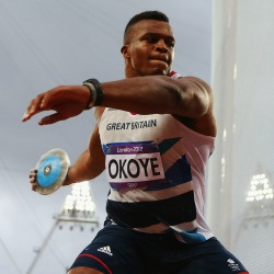 Not for turning: Okoye competing in the discus at the Olympics last year
