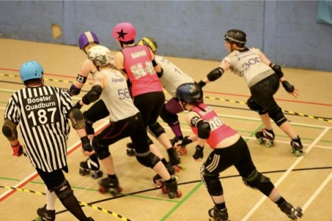 Rough and tumble: The action gets underway at CRD's latest bout, the last at Monks Hill