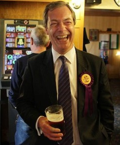 The toast of Coulsdon? UKIP's Nigel Farage will never be far from our TV screens in the run-up to European elections in 2014