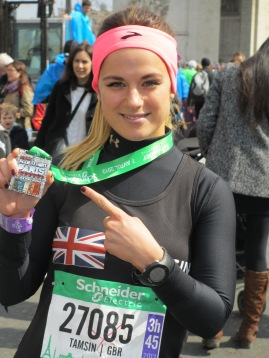 Marathon winner: Addiscombe's Tamsin Carelse