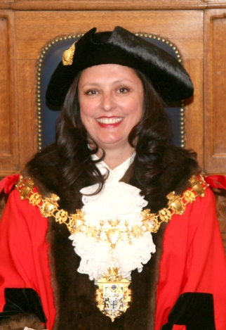 The new Mayor of Croydon, Yvette Hopley, at last night's ceremony