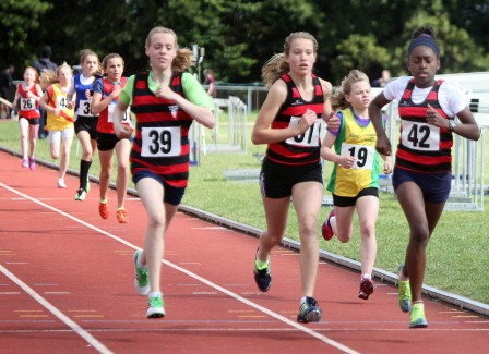 Running scared: numbers were up at this weekend's Surrey County Championships, but not by very many. Picture by Ray O'Donoghue