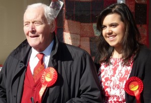 Potential council candidate for Croydon? Emily Benn out campaigning with her grandfather