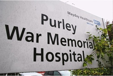 Purley Hospital sign