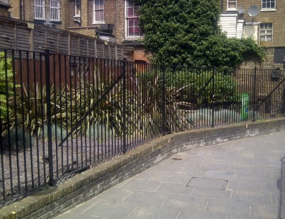 Thomas Turner Path in central Croydon: Croydon BID has improved its appearance considerably, though the purpose of the iron railings is unclear