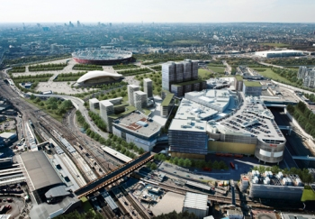 Westfield's most recently completed London mall, at Startford, is surrounded by motorway-standard roads
