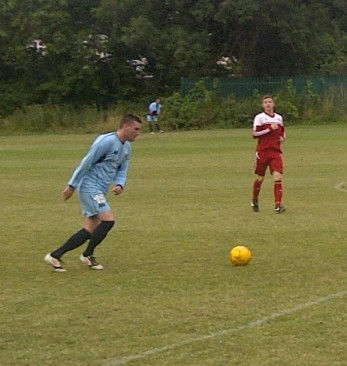 Action from Croydon's pre-season friendly at Beckenham Town in midweek