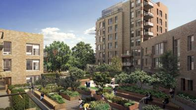 Not for ordinary Londoners: flats in Trafalgar Place, where the Heygate Estate used to be, are selling for £350,000