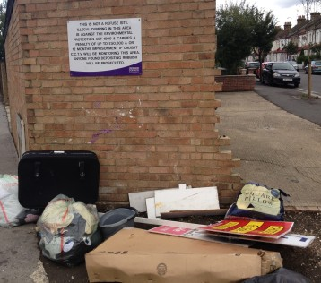 Fly tippers have been able to ignore Croydon Council signs, safe in the knowledge that nothing will happen to them