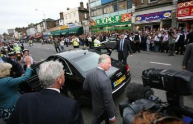 Charles and Camilla on their visit to London Road two years ago