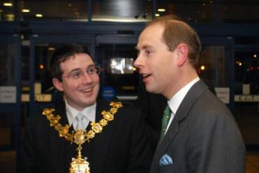 "Choice selection: Croydon Tory ""Arthur"" Askey in his time as mayor, meeting Prince Edward"