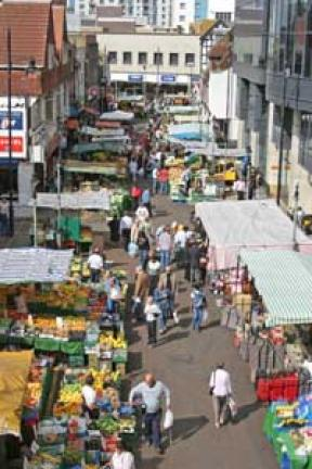Croydon's Surrey Street market: down to 40 per cent occupancy