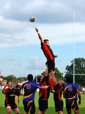Rising to the challenge: Croydon RFC's forwards provided the foundation of their victory over Streatham-Croydon last weekend. Picture by Chloe Tilling