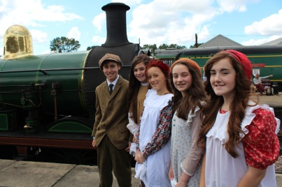 CODA's Railway Children: Michael Greenwood, Victoria Bailey, Carys Surbey, Lili Herbert and Kirsty Smith