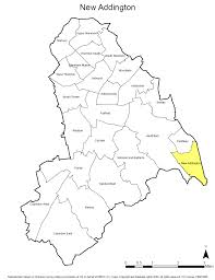 Ward map New Addington highlighted