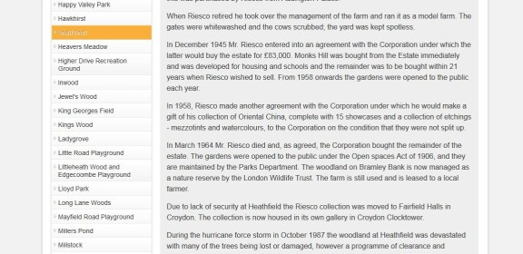 """Now you see it... How Croydon Council's own website used to describe, quite accurately, how the Riesco Collection was gifted to Croydon """"on the condition that they were not split up"""""""