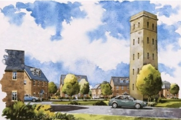 Developers Barrett's somewhat idealised vision of the new Cane Hill village