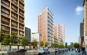 How Westfield imagine Wellesley Road might look, with high-rise towers of apartments