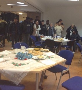 On Christmas day, volunteers served lunches to around 50 poor and vulnerable people at the CVA on London Road