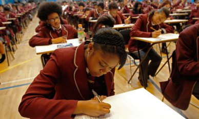 "Pupils at Harris Academy South Norwood sitting their public exams: but what happened to so many of their ""disappeared"" year group?"