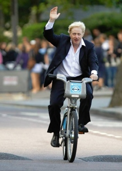 On your bike: London Mayor Boris Johnson wants to spend more on an urban motorway to help his developer mates in Croydon than he is spending on cycle schemes across London this year