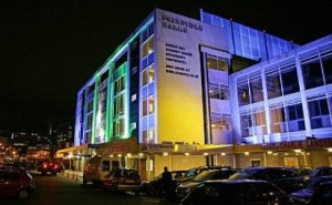 Fairfield Halls by night