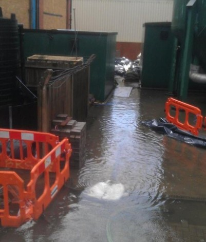 Even some heavy-duty pumping, going 24 hours a day since before the weekend, has been unable to stop the flood water levels rising at the Kenley plant
