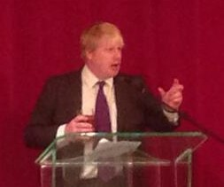 Selsdon Man: beer-in-hand Boris Johnson addresses Croydon Tories earlier this week. Barely a hundred members turned up
